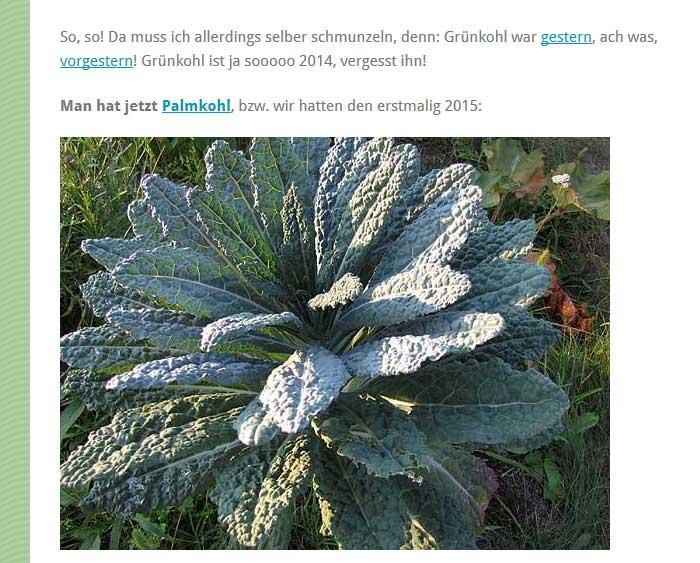 Gartenblog Palmkohlseite